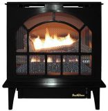 Buck Stove Hepplewhite Vent-Free Steel Gas Stove in Black - LP