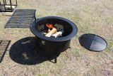 "Buck Stove RQWFP30-BT-B 30"" Fire Pit with Cooking Grate - Black"