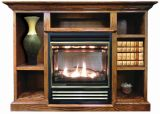 Buck Stove Vent Free Gas Stove w/ Prestige Mantel in Dark Oak - LP