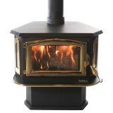 Buck Stove FP-18-G Non-Catalytic Wood Burning Stove w/ Gold Door