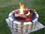 Buck Stove NV-BTRNDPITNAT Round Gas Granite Fire Pit - Natural Gas
