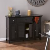 SEI MS0293 Fairbury 3-in-1 Media Console/Sideboard in Black