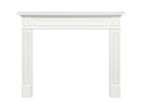 """Pearl Mantels 525-48 The Mike 48"""" Fireplace Mantel MDF White Paint"""