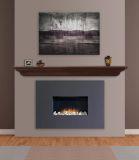 """618-72BRN The Crestwood 72"""" Shelf or Mantel Shelf MDF Brown Paint"""