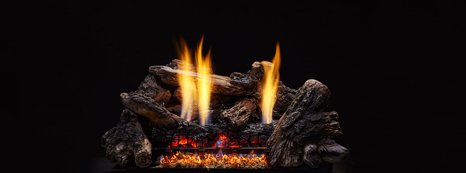 "Monessen CR24-H Burncrete Hybrid 8 Pc 24"" Charisma Log Set - LOGS ONLY"