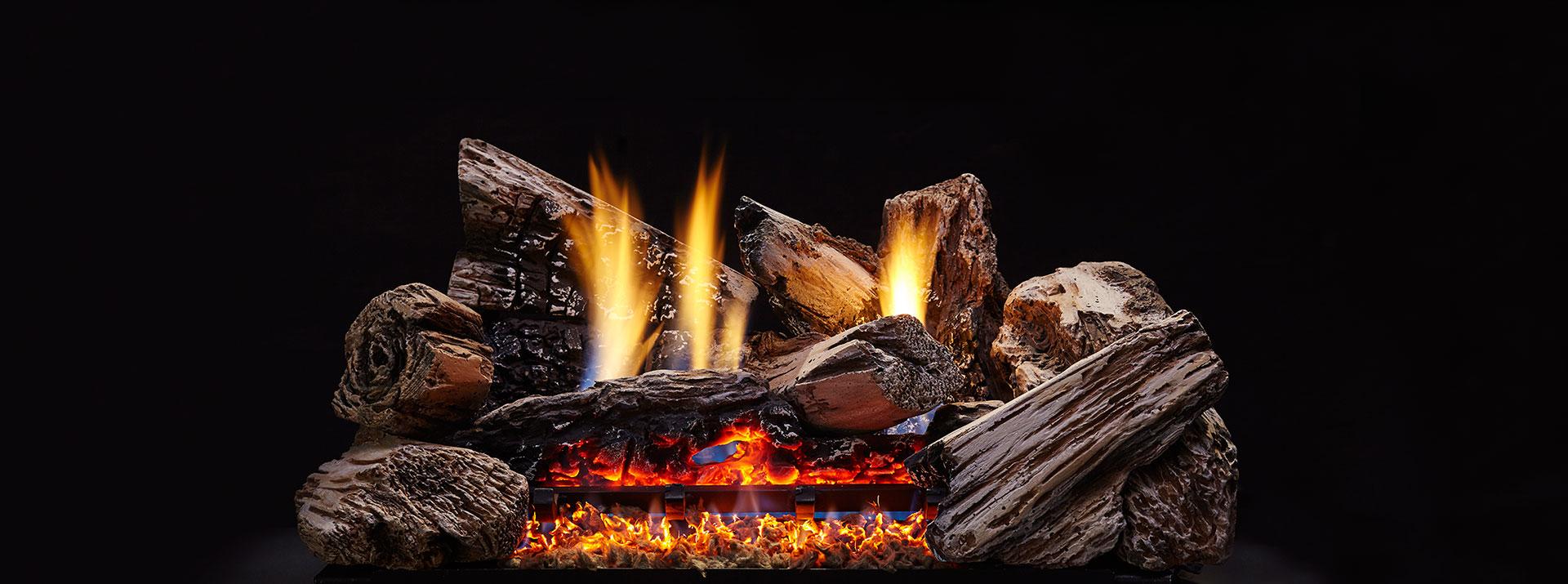 "Monessen MX24-H 24"" Burncrete Hybrid 8 pc Moxie Log Set - LOGS ONLY"