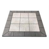 "NY Hearth Pewter Rock 40"" x 40"" Tile Hearth Pad- Square Wall"