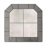 "NY Hearth Pewter Rock 40"" x 40"" Tile Hearth Pad- Standard"