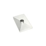 Gelco 1 Hole Stainless Steel Chase Cover