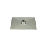 Gelco 1 Hole Aluminum Chase Cover