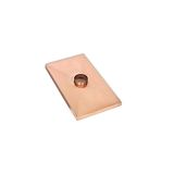 Gelco 1 Hole Copper Chase Cover