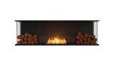 Flex Bay Bioethanol Firebox-68BY-Black Finish-Decorative Two Side