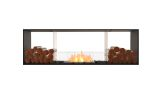 Flex Double Sided Bioethanol Firebox-Black Finish-Decorative Two Side