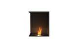 ESF.FX.18LC Flex Left Corner Bioethanol Firebox-18LC-Black Finish