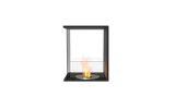 ESF.FX.18PN Flex Peninsula Bioethanol Firebox-18PN-Black Finish