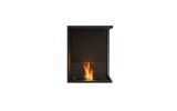 ESF.FX.18RC Flex Right Corner Bioethanol Firebox-18RC-Black Finish