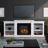 Real Flame 2222E Hawthorne Electric Entertainment Fireplace - White