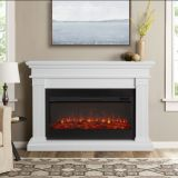 Real Flame 8080E Beau Electric Fireplace - White