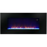 "48"" Wall-Mounted LED Fireplace with Flame Patterns and Remote Control"
