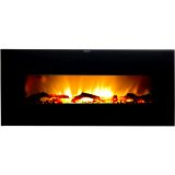 Widescreen Wall-Mounted Electric Fireplace with Remote Control