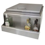 Fireside Large Slide In Ice Storage - Bottle Rail & Condiment Holder