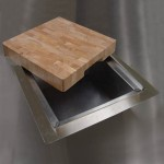 Trash Chute With Cutting Board