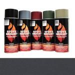 Charcoal - 1200 Degree Wood Stove High Temp Paint -