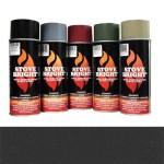 Metallic Black - 1200 Degree Wood Stove High Temp Paint -