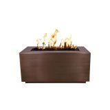 """Pismo 84"""" x 24"""" White Powdercoated Steel Match Lit Fire Pit - NG"""