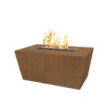 """Mesa 60"""" x 24"""" Stainless Steel Fire Pit w/ Match Lit Ignition - NG"""