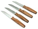 Charcoal Companion Orchard Rosewood Handle Steak Knives - Set of 4