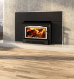 Osburn 2400 Wood Insert w/Large Faceplate and Bushed Nickel Trims