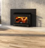 Osburn 2400 Wood Insert w/Regular Faceplate and Black Trims