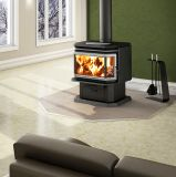 Osburn 2200 Wood Stove w/Brushed Nickel Louver and Door Overlay