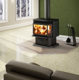 Osburn 2200 Wood Stove w/Black Louver and Door Overlay