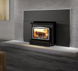 Osburn 1600 Wood Insert w/Large Faceplate and Brushed Nickel Trims