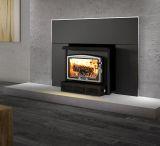 Osburn 1600 Wood Insert w/Medium Faceplate and Brushed Nickel Trims