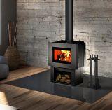 Soho Wood Stove w/Black Side Panels and Regular Pedestal