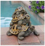 Design Toscano QL56360 Medium Threes A Crowd Turtle Statue