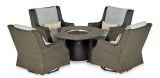RMPDSG5S Rome Platinum 5-Piece Fire Chat Set-Canvas Spa