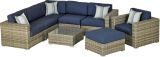 DRDSG8SI Del Rey 8-Piece Sectional Deep Seating Group-Spectrum Indigo