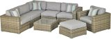 DRDSG8VS Del Rey 8-Piece Sectional Deep Seating Group-Volt Silver
