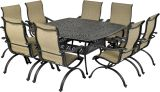 Laguna by Patio Resorts SQDTMN64-LG1 Laguna 9-Piece Dining Set
