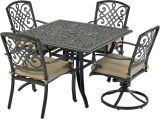 Bridgetown by Patio Resorts SQDTDY44-BT2 Bridgetown 5-Piece Dining Set