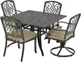 Bridgetown by Patio Resorts SQDTDY44-BT4 Bridgetown 5-Piece Dining Set