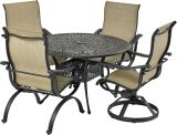 Laguna by Patio Resorts RDTMN48-LG2 Laguna 5-Piece Dining Set