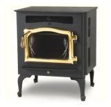 Country Flame Little Rascal Wood Pellet Stove with Gold Door & Legs