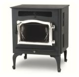 Country Flame Little Rascal Wood Pellet Stove w/Brushed Nickel Door & Legs
