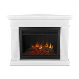 Kennedy Grand Corner Electric Fireplace - White