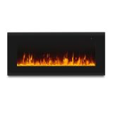 "Corretto 40"" Wall-Hung Electric Fireplace - Black"